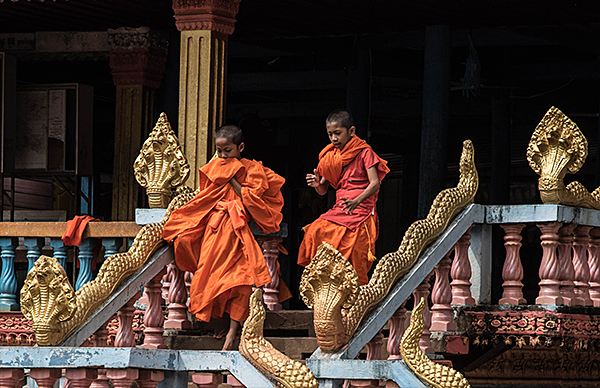 Two Young Monks