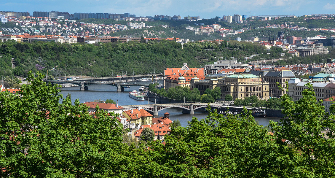 Prague from Petrin Park Tower
