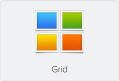 Widgetkit Grid Icon
