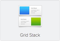 Widgetkit Grid Stack Icon